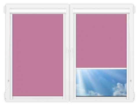 Рулонные кассетные шторы УНИ - Аргентум-фиолетовый на пластиковые окна