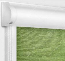 Рулонные кассетные шторы УНИ - Лусто светло-зеленый