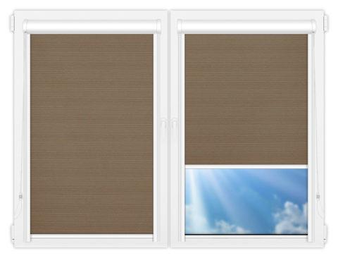 Рулонные кассетные шторы УНИ - Маракеш-блэкаут-браун на пластиковые окна