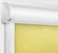 Рулонные кассетные шторы УНИ - Металлик желтый