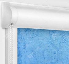 Рулонные кассетные шторы УНИ - Шелк голубой