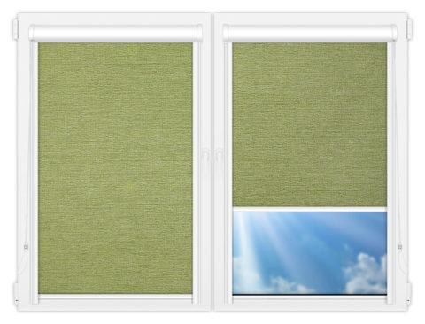 Рулонные кассетные шторы УНИ - Валенсия-зеленый