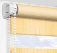 Рулонные шторы День-Ночь - Латина светло-желтый 1801