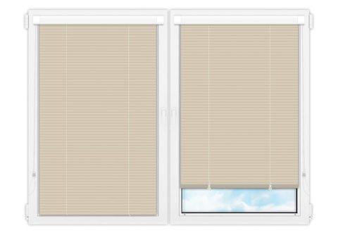 Жалюзи Изотра 25 мм на пластиковые окна - цвет бежевый