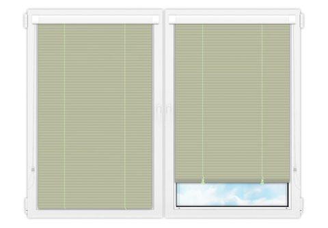 Жалюзи Изотра 25 мм на пластиковые окна - цвет бледно-зеленый