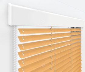 Жалюзи Изолайт 16 мм на пластиковые окна - цвет под дерево песочно-желтый