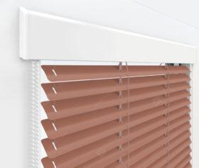 Жалюзи Изолайт 25 мм на пластиковые окна - цвет бежево-красный