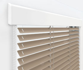 Жалюзи Изолайт 16 мм на пластиковые окна - цвет бежевый