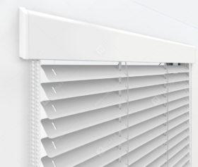 Жалюзи Изолайт 25 мм на пластиковые окна - цвет серебристый металлик 56