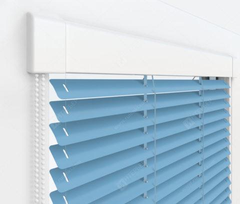 Жалюзи Изотра 25 мм на пластиковые окна - цвет темно-голубой