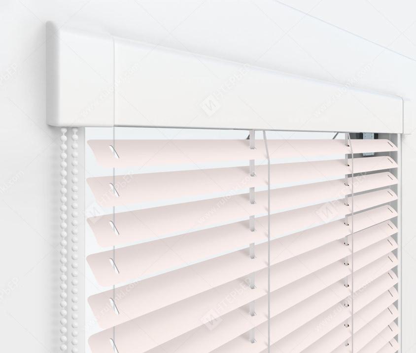 Жалюзи Изотра 16 мм на пластиковые окна - цвет бледно-розовый