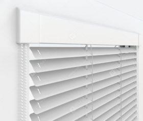 Жалюзи Изотра 25 мм на пластиковые окна - цвет серебристый металлик 56