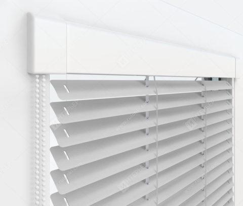 Жалюзи Изотра 25 мм на пластиковые окна - цвет серебристый металлик