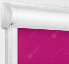 Рулонные кассетные шторы УНИ - Карина блэкаут фуксия