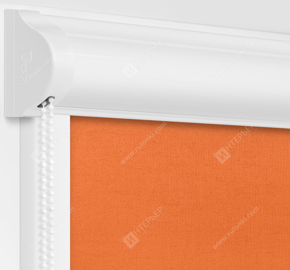 Рулонные кассетные шторы УНИ - Карина блэкаут карамель