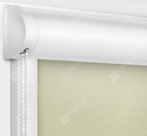 Рулонные кассетные шторы УНИ - Карина кремовый