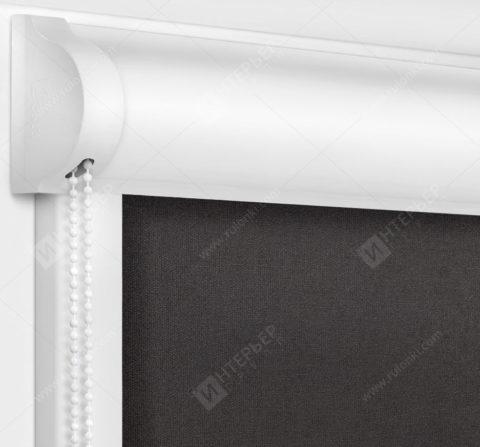 Рулонные кассетные шторы УНИ - Карина шоколад