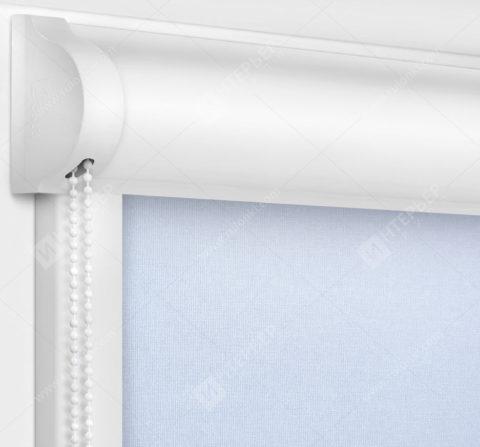 Рулонные кассетные шторы УНИ - Карина снежно-голубой
