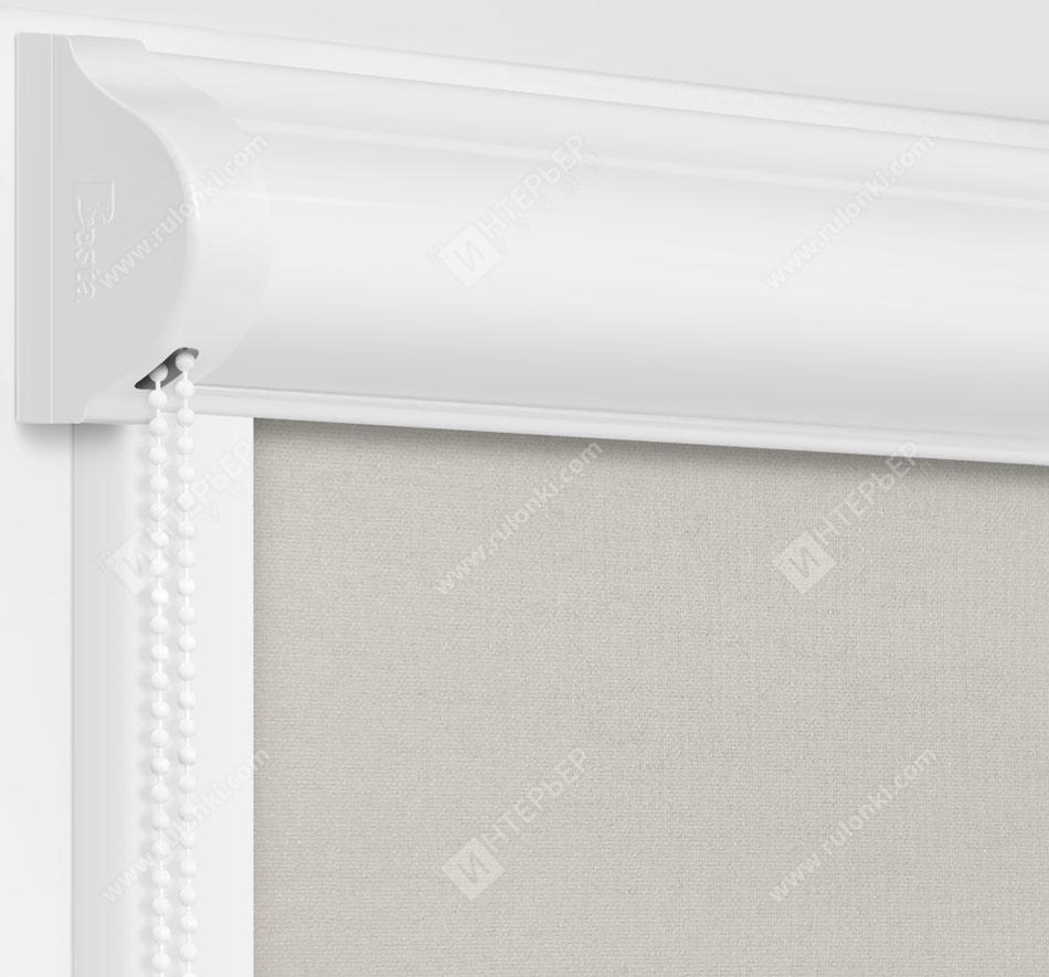Рулонные кассетные шторы УНИ - Карина блэкаут светло-серый