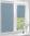 Рулонные кассетные шторы УНИ – Карина блэкаут светло-синий
