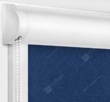 Рулонные кассетные шторы УНИ - Карина блэкаут темно-синий