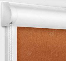 Рулонные кассетные шторы УНИ - Карина терракот