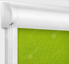 Рулонные кассетные шторы УНИ - Карина блэкаут зеленый