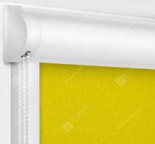 Рулонные кассетные шторы УНИ - Карина блэкаут желтый