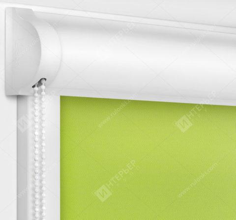 Рулонные кассетные шторы УНИ - Алегро Перл зеленый