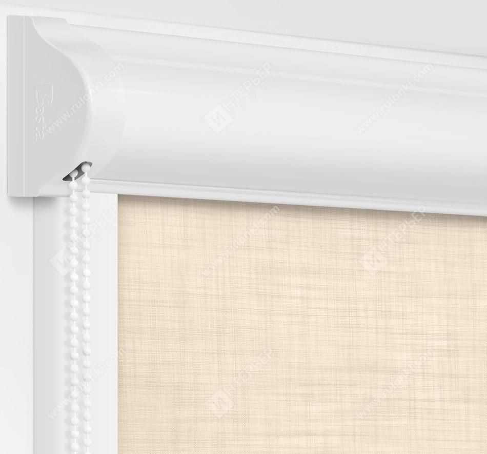 Рулонные кассетные шторы УНИ - Анже блэкаут кремовый