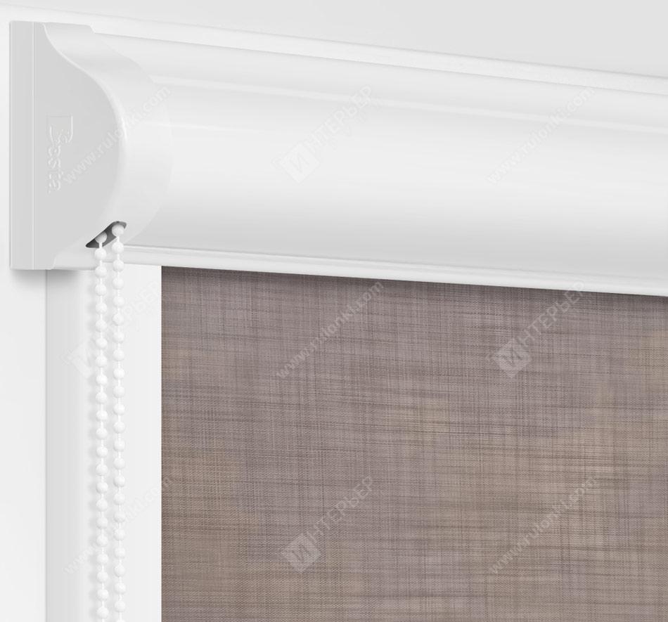 Рулонные кассетные шторы УНИ - Анже серый