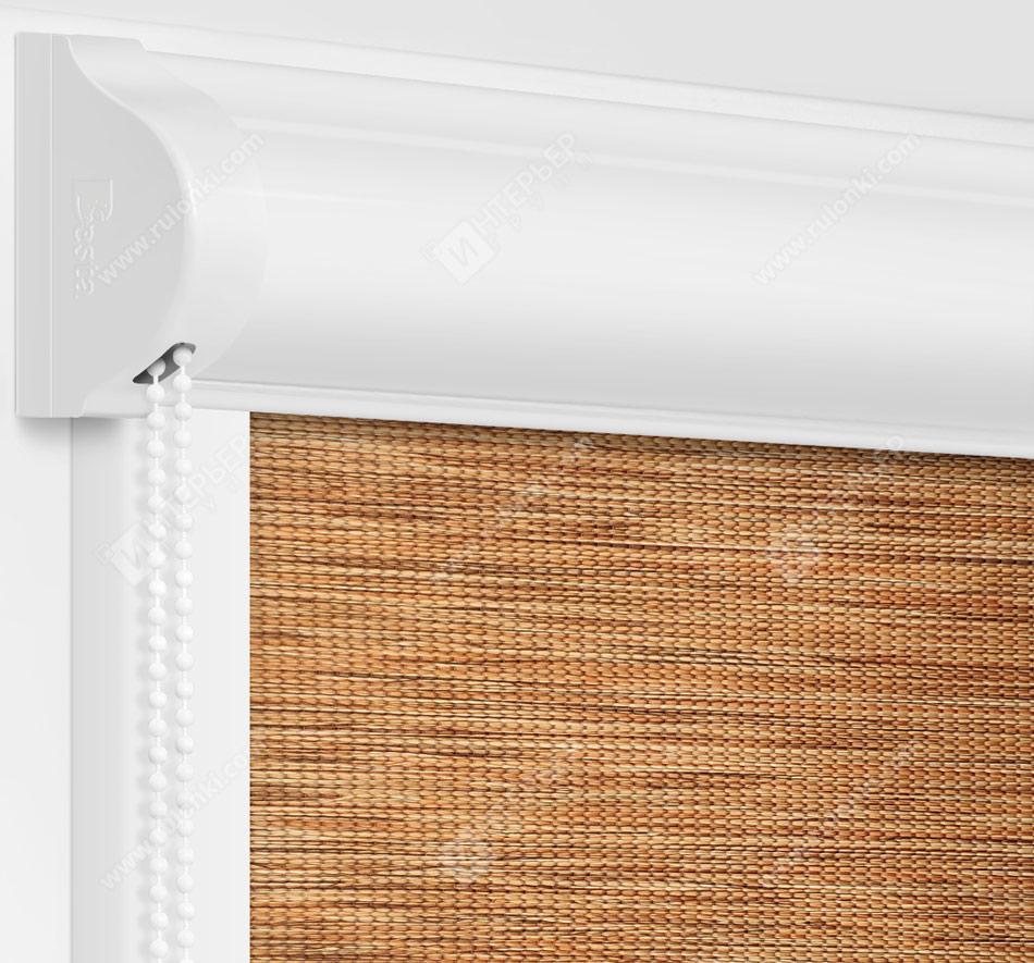 Рулонные кассетные шторы УНИ - Аруба коричневый