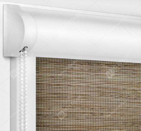 Рулонные кассетные шторы УНИ - Корсо коричневый