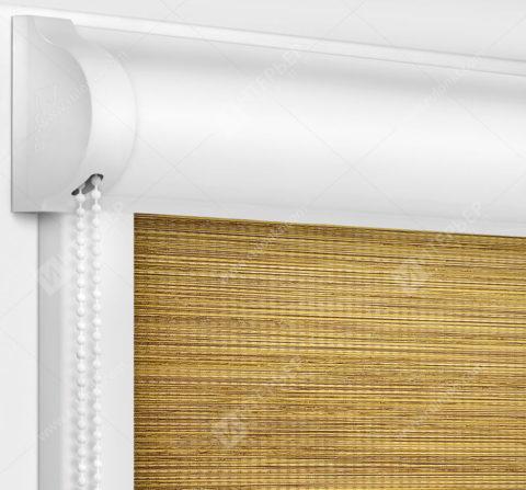 Рулонные кассетные шторы УНИ - Корсо желтый
