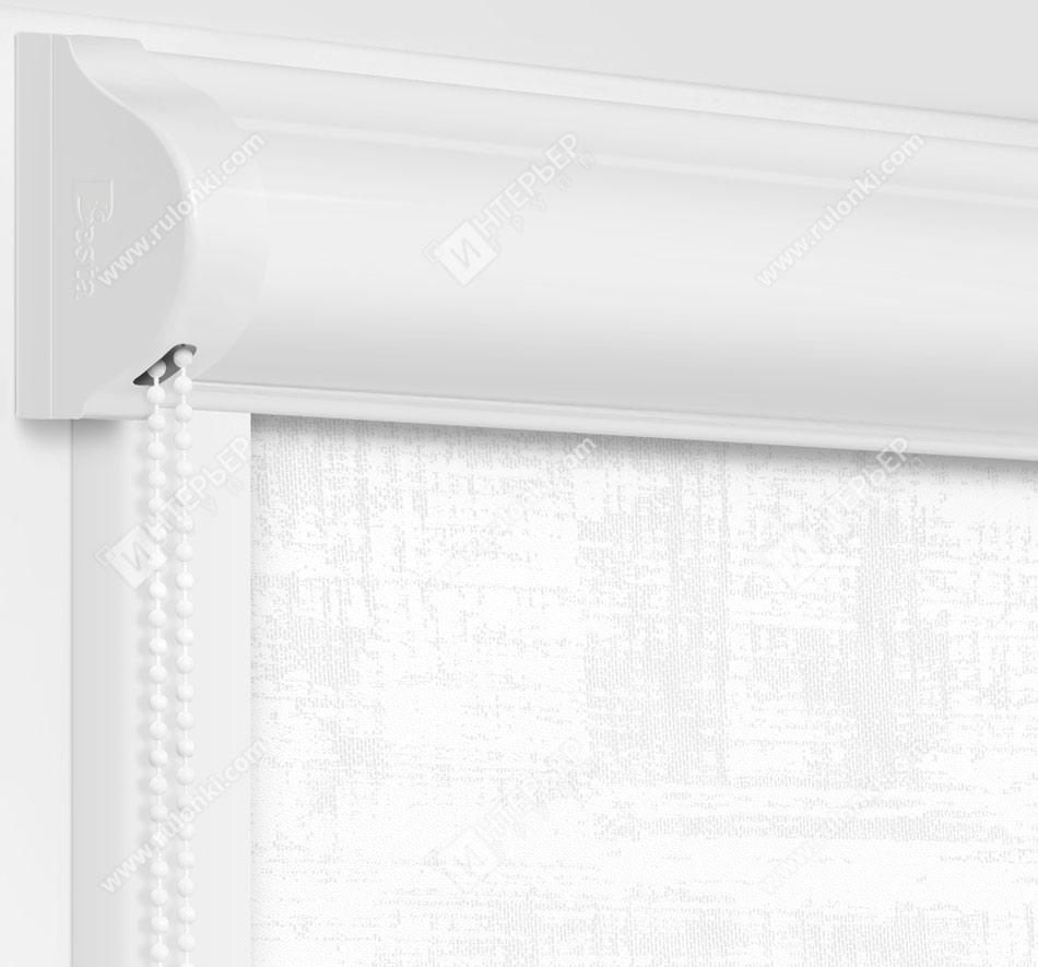 Рулонные кассетные шторы УНИ - Шейд белый