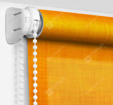 Рулонные шторы Мини - Анже апельсиновый