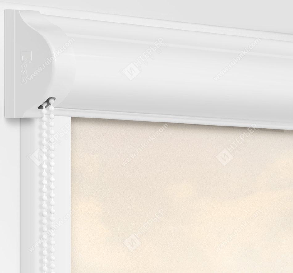 Рулонные кассетные шторы УНИ - Куба персиковый