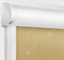 Рулонные кассетные шторы УНИ - Куба песочный