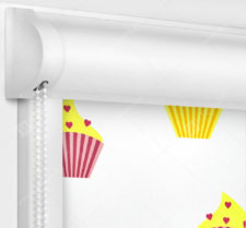 Рулонные кассетные шторы УНИ - Кексы блэкаут