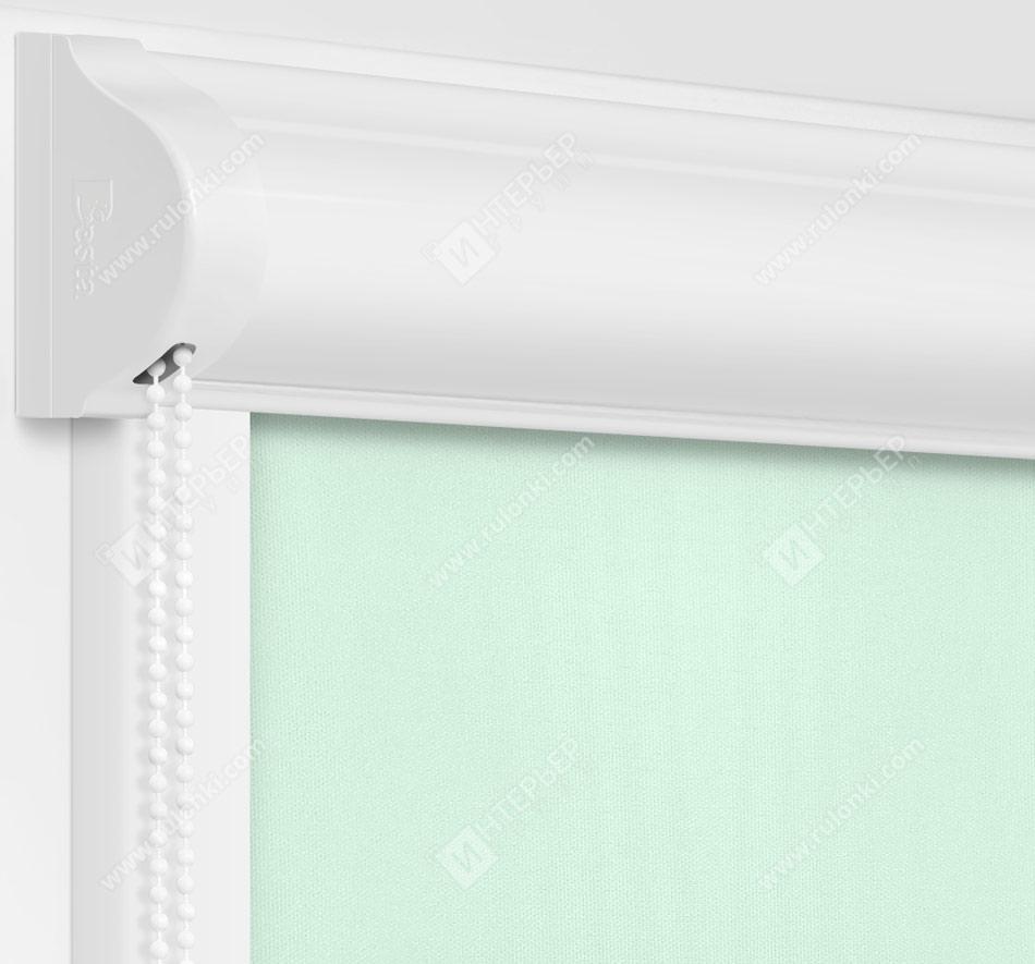 Рулонные кассетные шторы УНИ - Аллегро Перл голубой