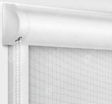 Рулонные кассетные шторы УНИ - Сильвер скрин белый