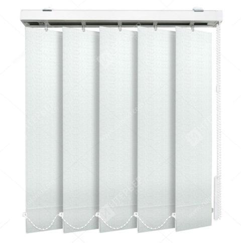 Вертикальные тканевые жалюзи Эдем белый на пластиковые окна - купить по низкой цене