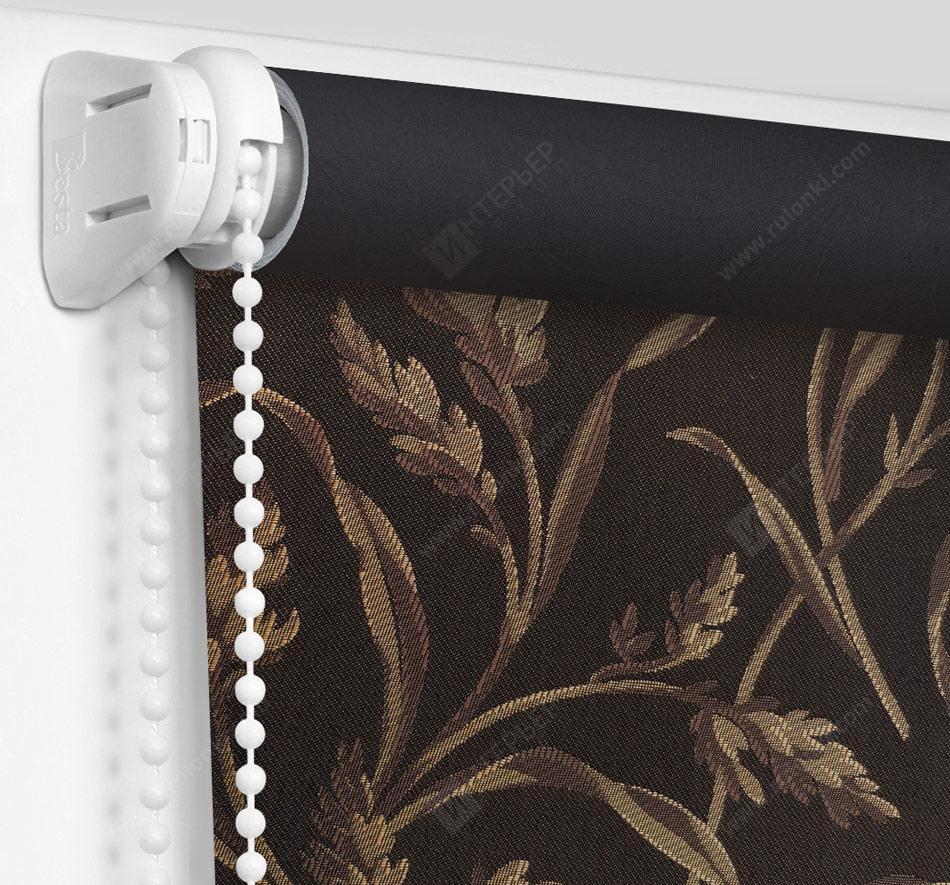 Рулонные шторы Мини - Баски димаут коричневый