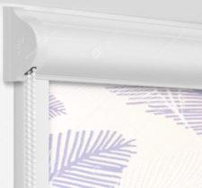 Рулонные кассетные шторы УНИ - Форио сиреневый на пластиковые окна