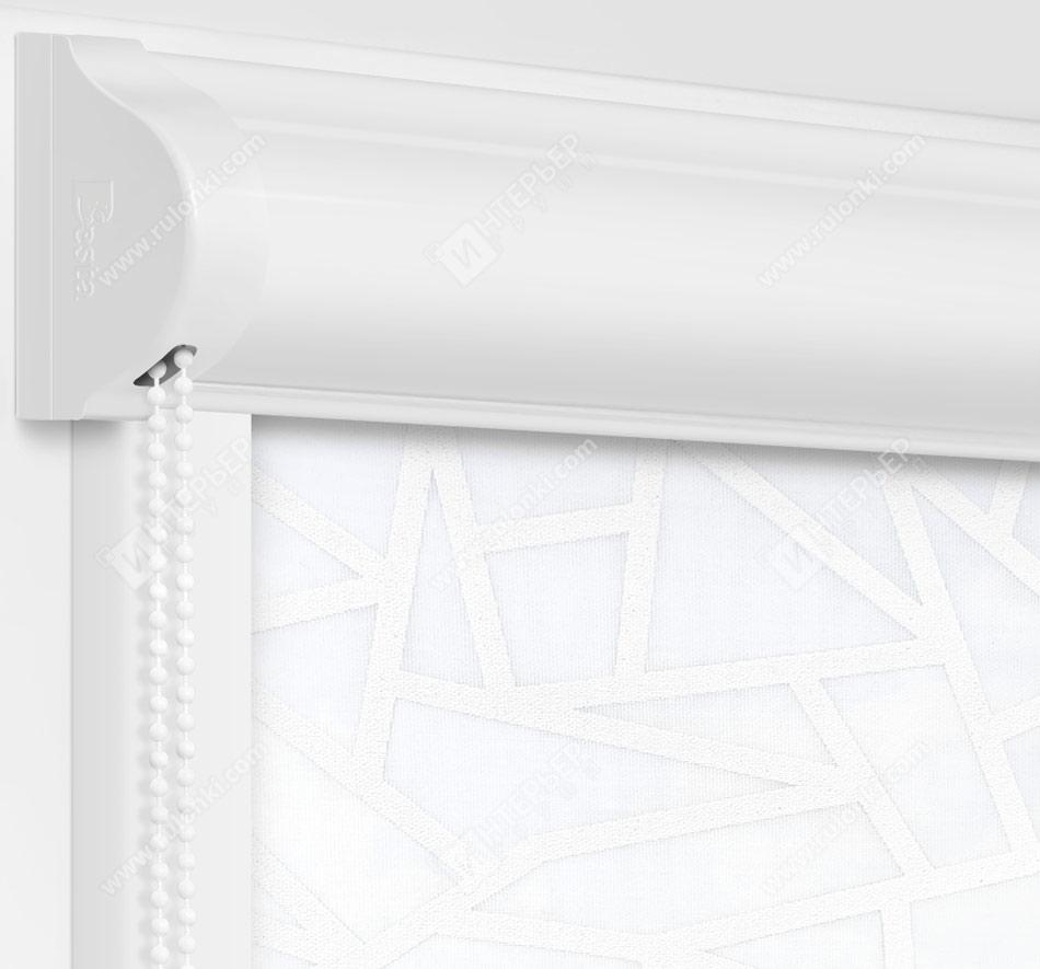 Рулонные кассетные шторы УНИ - Кастелло белый на пластиковые окна