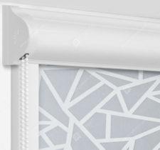 Рулонные кассетные шторы УНИ - Кастелло серый на пластиковые окна