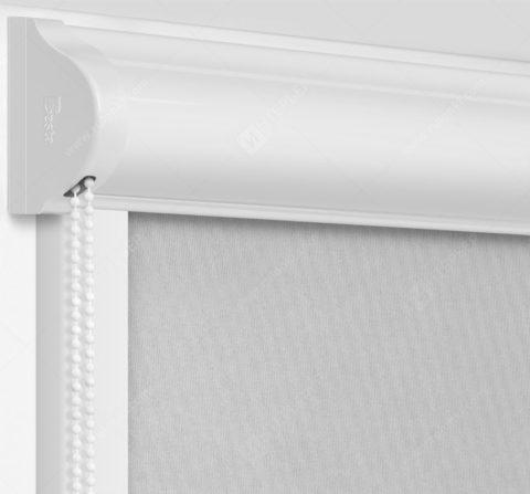 Рулонные кассетные шторы УНИ - Кейптаун фр серый на пластиковые окна