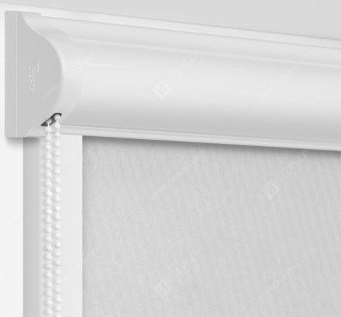 Рулонные кассетные шторы УНИ - Кейптаун фр светло-серый на пластиковые окна
