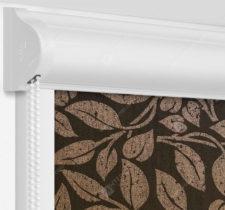 Рулонные кассетные шторы УНИ - Лейси коричневый на пластиковые окна