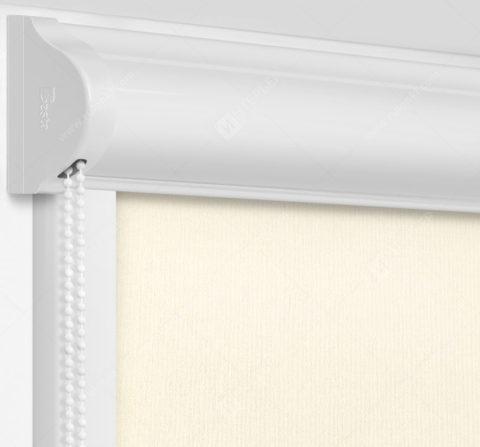 Рулонные кассетные шторы УНИ - Монако бежевый на пластиковые окна